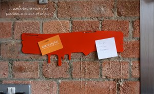 Contemporary magnetic memo notice board
