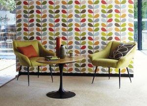 Contemporary designer wallpaper from Orla Kiely