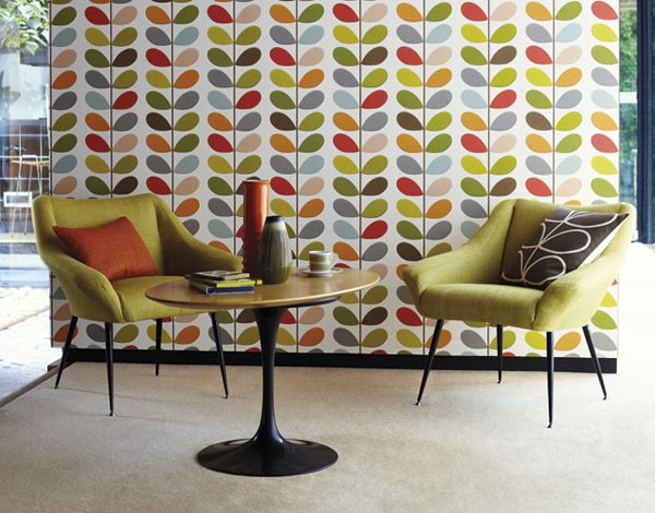New Orla Kiely wallpaper for Harlequin