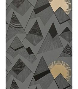 Contemporary fresh designer mountain wallpaper