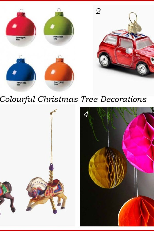 colourful contemporary christmas tree decorations - Contemporary Christmas Decorations