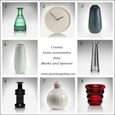 Bargain price designer Conran home accessories for a fresh design contemporary home