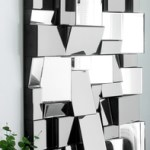 Contemporary blocks wall art mirror