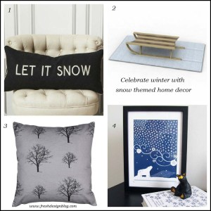 Snow themed contemporary modern home decor ideas