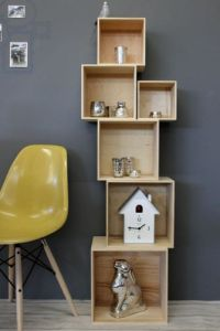 Contemporary cube shelving