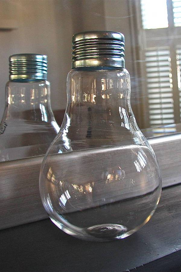 Contemporary giant light bulb vase