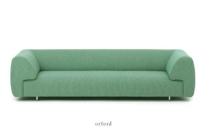 Soft mint green contemporary stylish sofa