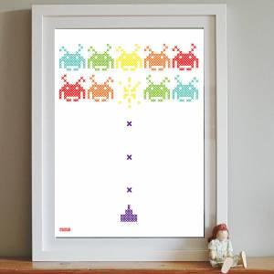 Funky contemporary cross stitch design