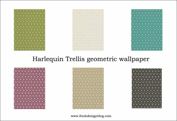 Contemporary modern geometric wallpaper