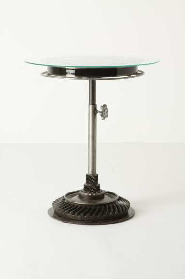 Table made from an old film reel