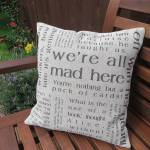 Alice in Wonderland quotations cushion