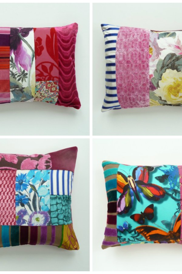 Contemporary patchwork cushions by Suzy Newton