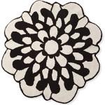 Missoni Home Otil black and white flower bath mat