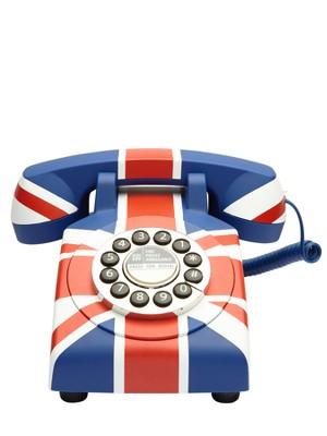 Funky contemporary Union Jack telephone