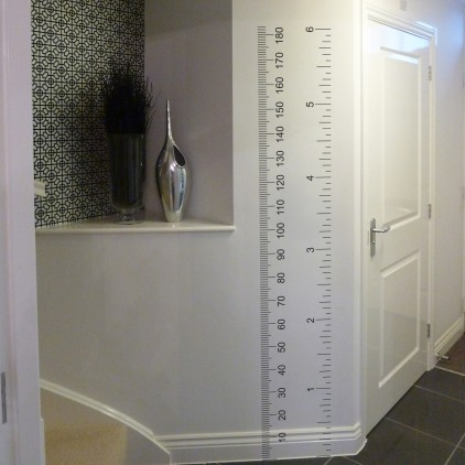 Wall art and measurer: Ruler design wall sticker