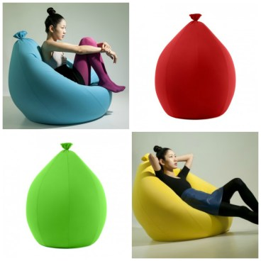 Comfy contemporary style beanbag lounge chair