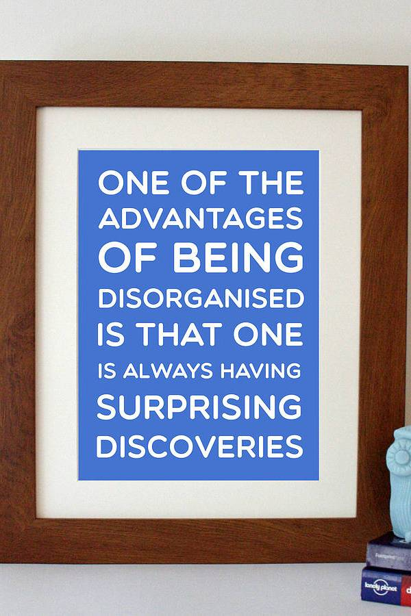 Disorganised discoveries: Winnie the Pooh quote wall art print