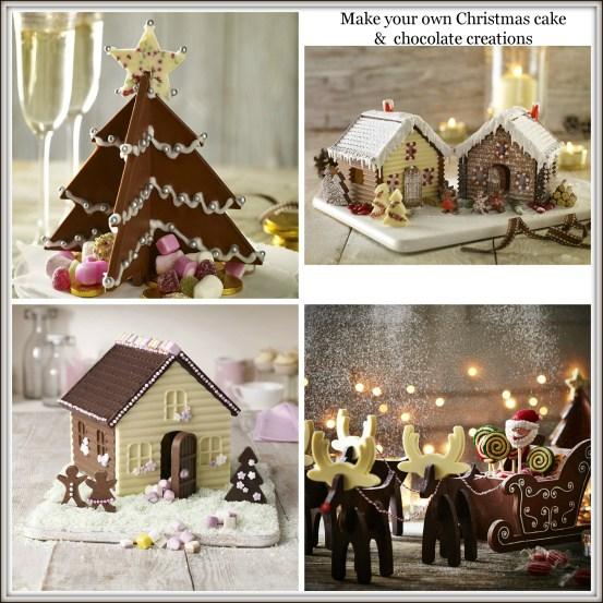 Make your own Christmas chocolate cakes