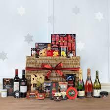 Luxury opulent Christmas food drink hamper