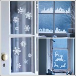 Decorate your windows with winter themed seasonal window stickers