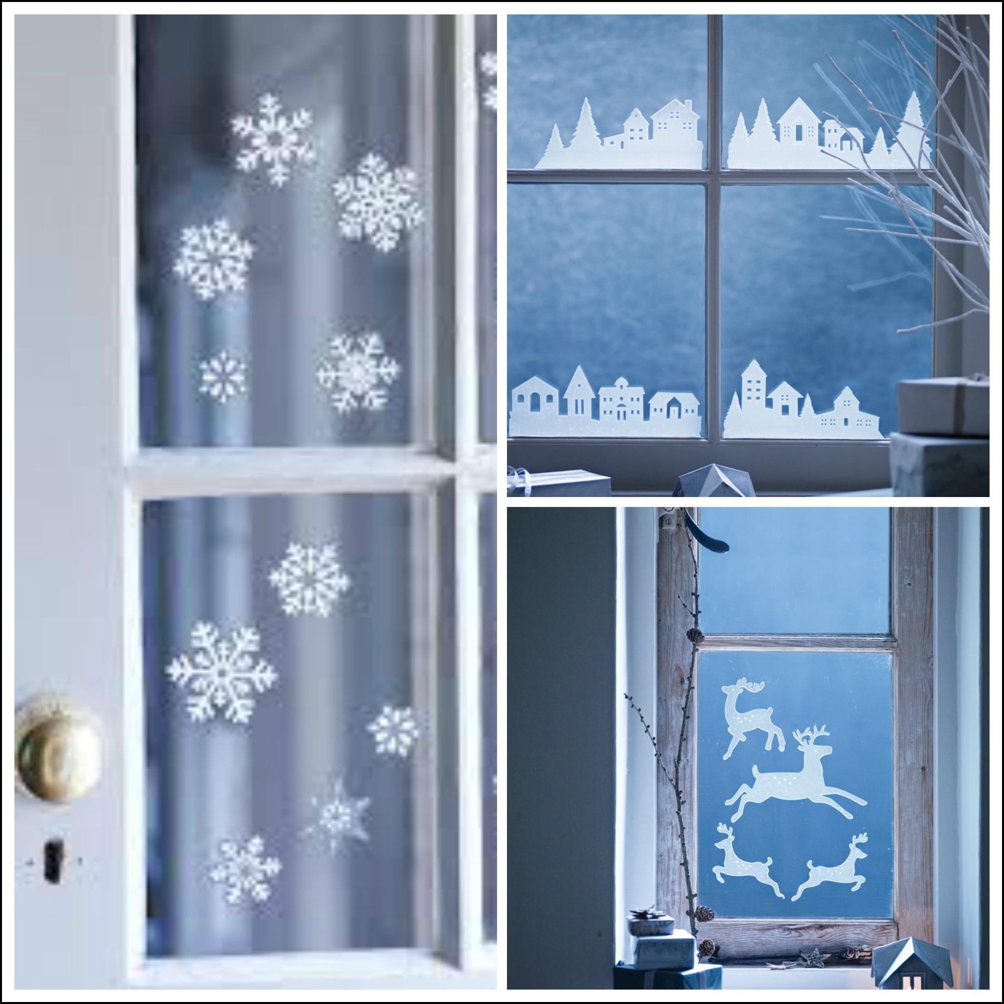 decorate your windows with winter themed seasonal window stickers - Christmas Window Stickers