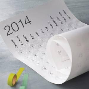2014 contemporary home calendar