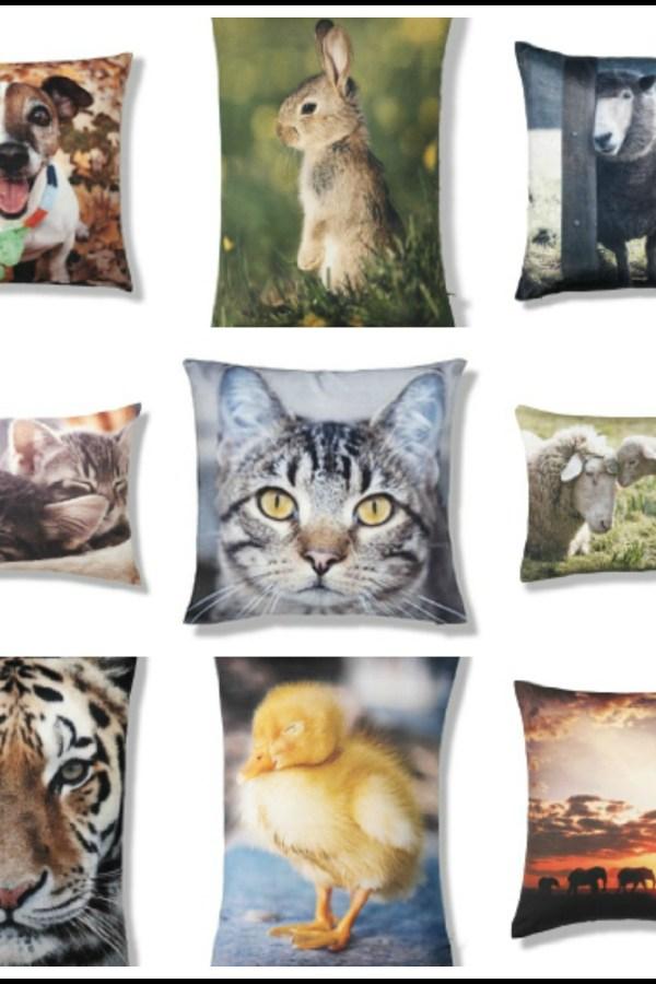 Animal magic: Photographic animal design cushions