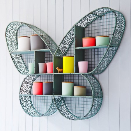 Unusual butterfly design shelf