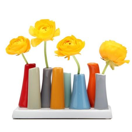 Contemporary multi ceramic vase