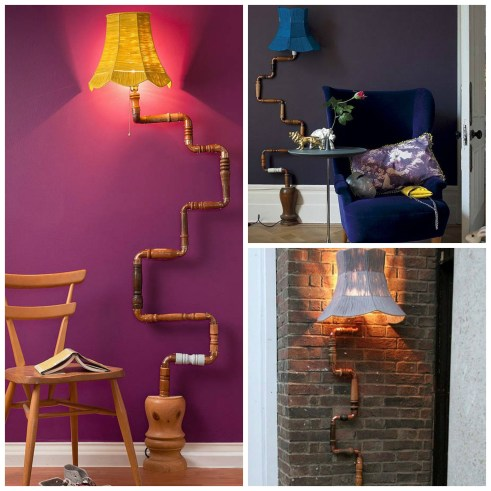 Lovely Legs upcycled wall lamp featured on Fresh Design Blog