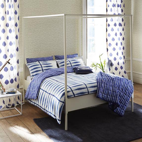 Fresh design indigo blue Shibori bedding