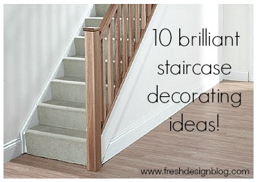Update your stairs with wallpaper and paint