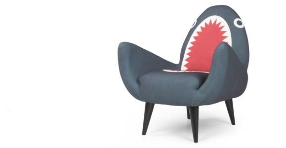 Shark fin design retro chair