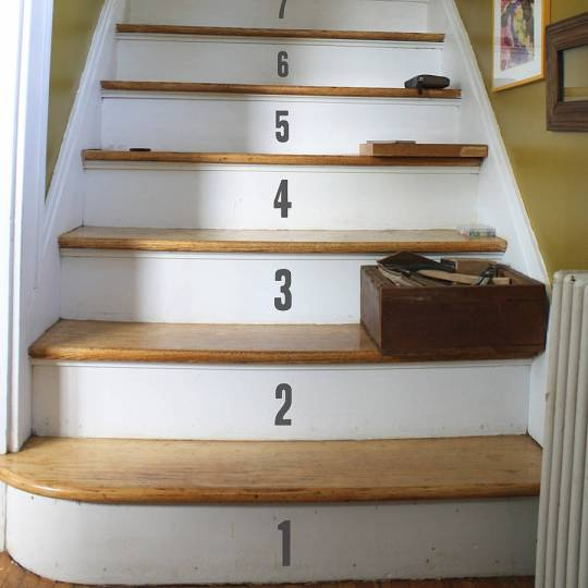 Number your stairs