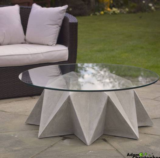Kronen bowl concrete coffee table by Adam Christopher Design