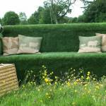 Go green with a grass garden sofa