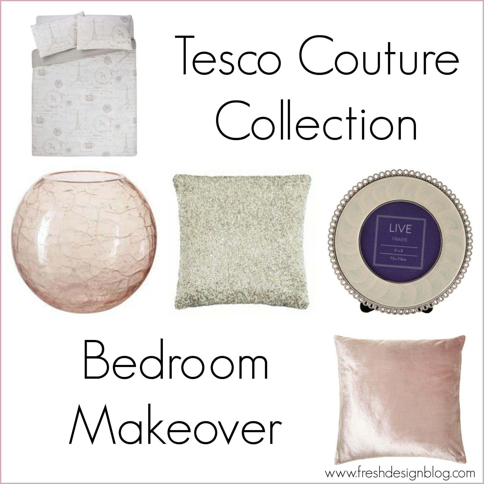 Tesco Couture Collection Bedroom Makeover Challenge Fresh Design Blog
