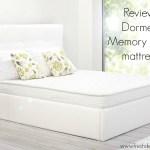 Sleep matters: Dormeo Memory Fresh mattress review