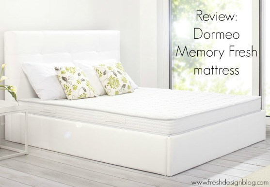 Fresh Design Blog review the Dormeo Memory Fresh mattress