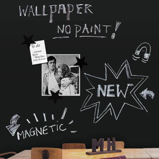 How to create a magnetic blackboard wall