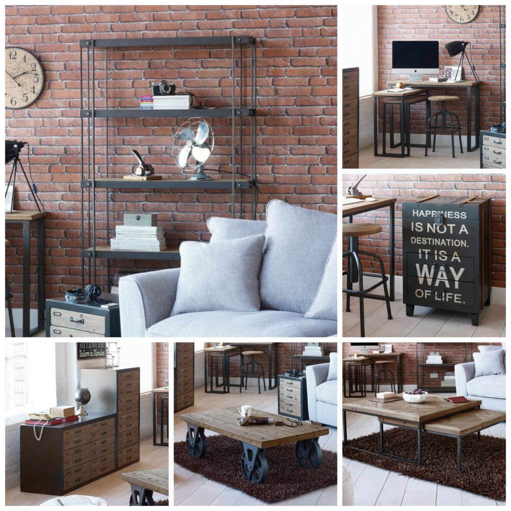 Spitalfields industrial rustic living room furniture collection