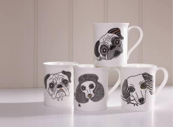 Designer dog mugs by Alpenfraulein reviewed by Fresh Design Blog