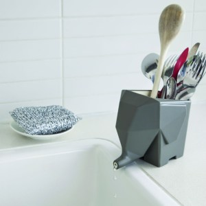 Fresh design finds: elephant cutlery drainer