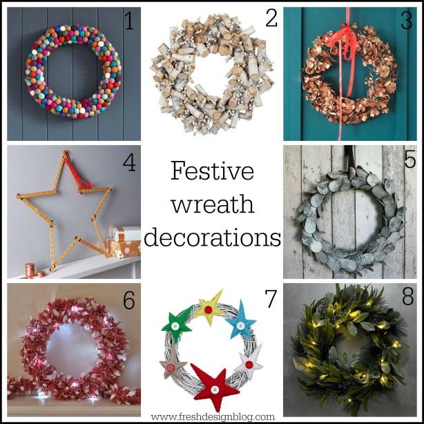 8 fabulous Christmas wreaths found by Fresh Design Blog