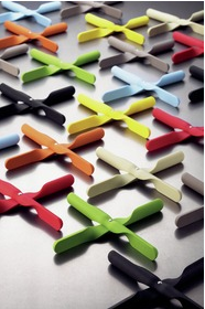Funky colourful silicone trivets from The Scandinavian Shop