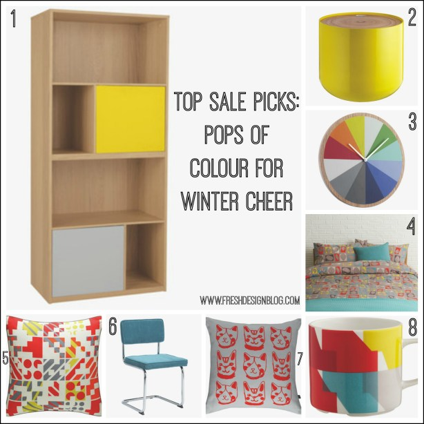 Pops of colour to add cheer to your home interiors