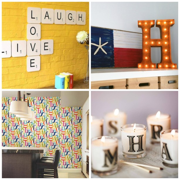 Fresh Design ideas: 7 ways to use alphabet letters in your home decor