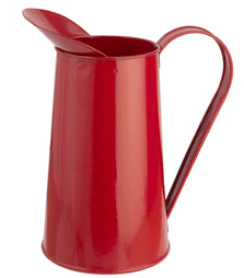 Red traditional design metal jug