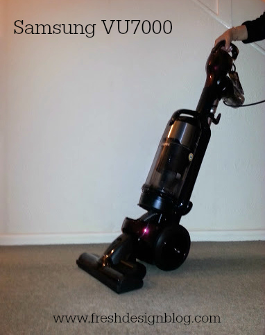 Honest review by Fresh Design Blog of the Samsung VU7000 vacuum cleaner