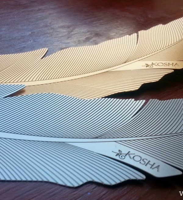 Inspiring objects: Heritage feather design bookmarks by Kosha